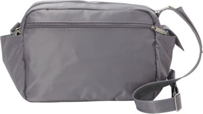 BeSafe by DayMakers RFID Smart Traveler 12 LX Shoulder Bag Pewter - BeSafe by DayMakers Fabric Handbags