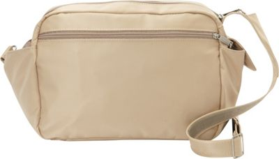 BeSafe by DayMakers RFID Smart Traveler 12 LX Shoulder Bag Taupe - BeSafe by DayMakers Fabric Handbags