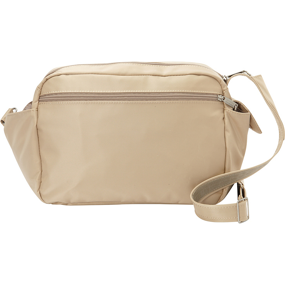 BeSafe by DayMakers RFID Smart Traveler 12 LX Shoulder Bag Taupe BeSafe by DayMakers Fabric Handbags
