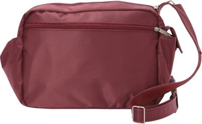 BeSafe by DayMakers RFID Smart Traveler 12 LX Shoulder Bag Wine - BeSafe by DayMakers Fabric Handbags