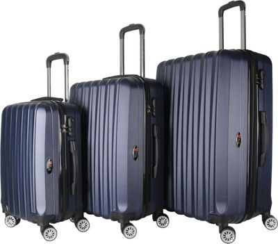 Brio Luggage Hardside Spinner Luggage Set Navy - Brio Luggage Luggage Sets