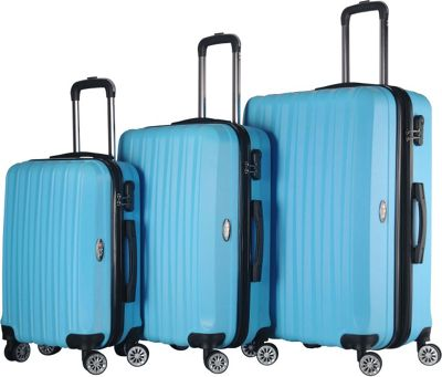 Brio Luggage Brio Luggage Hardside Spinner Luggage Set #1600 Light Blue - Brio Luggage Luggage Sets