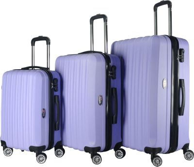 Brio Luggage Hardside Spinner Luggage Set #1600 Light Purple - Brio Luggage Luggage Sets