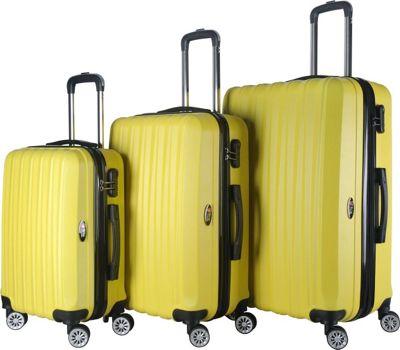 Brio Luggage Hardside Spinner Luggage Set Yellow - Brio Luggage Luggage Sets
