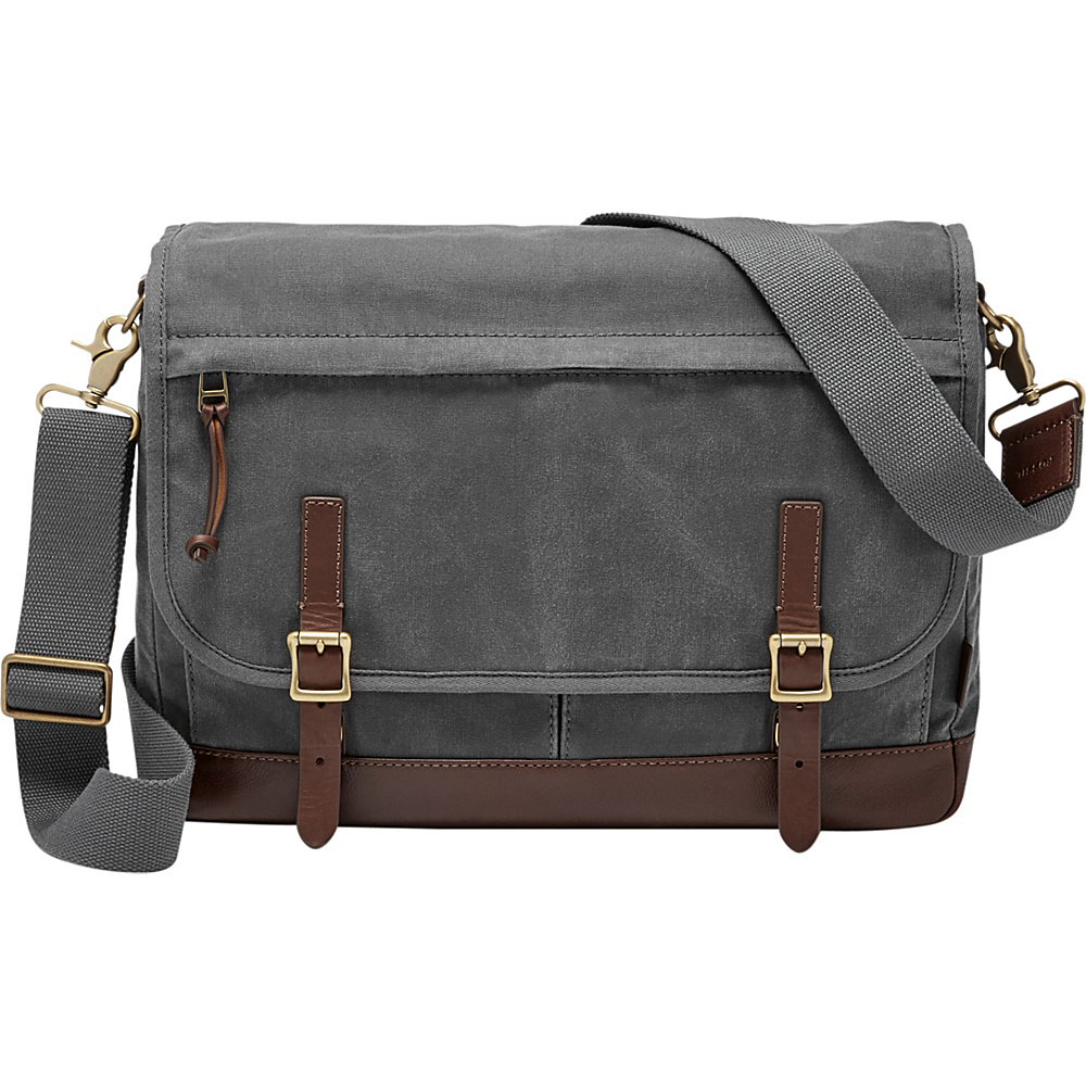 Fossil Defender Messenger Grey - Fossil Messenger Bags - Work Bags & Briefcases, Messenger Bags