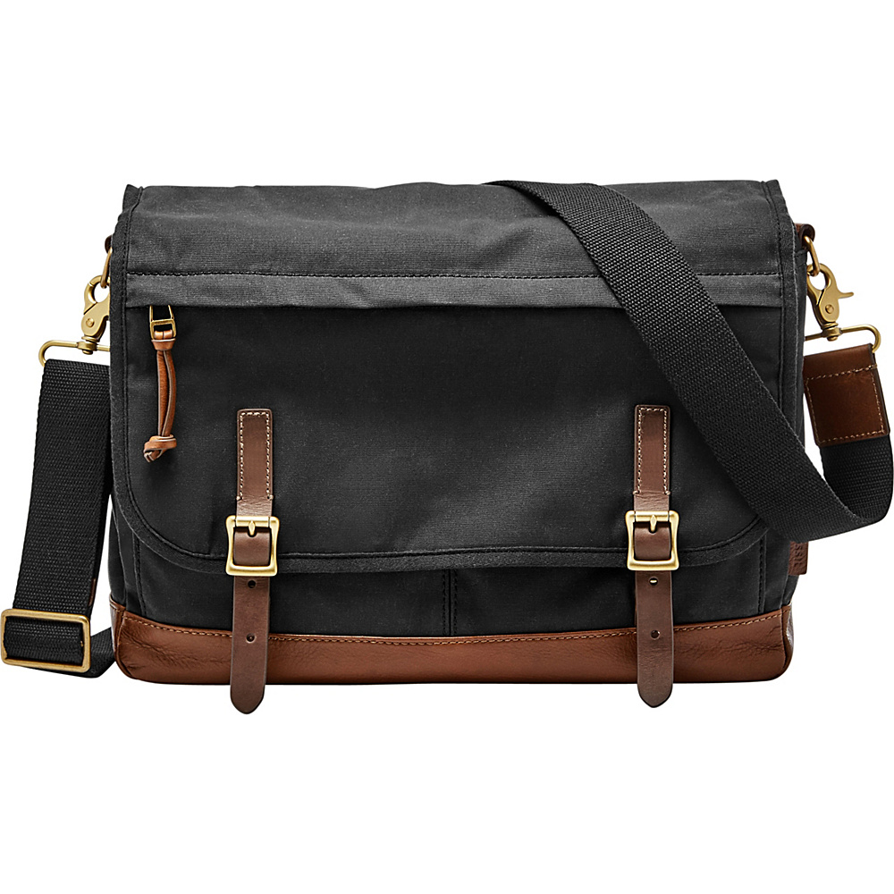 Fossil Defender Messenger Black - Fossil Messenger Bags - Work Bags & Briefcases, Messenger Bags