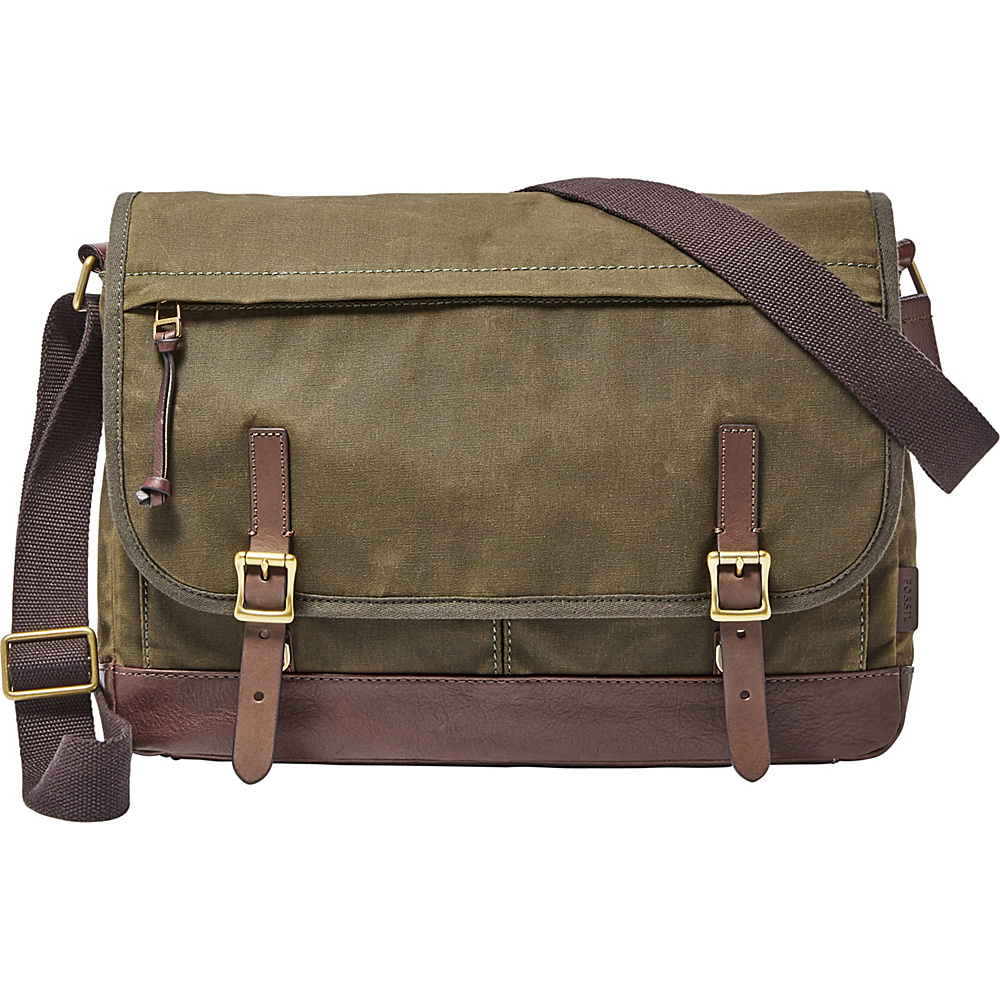 Fossil Defender Messenger Green - Fossil Messenger Bags - Work Bags & Briefcases, Messenger Bags