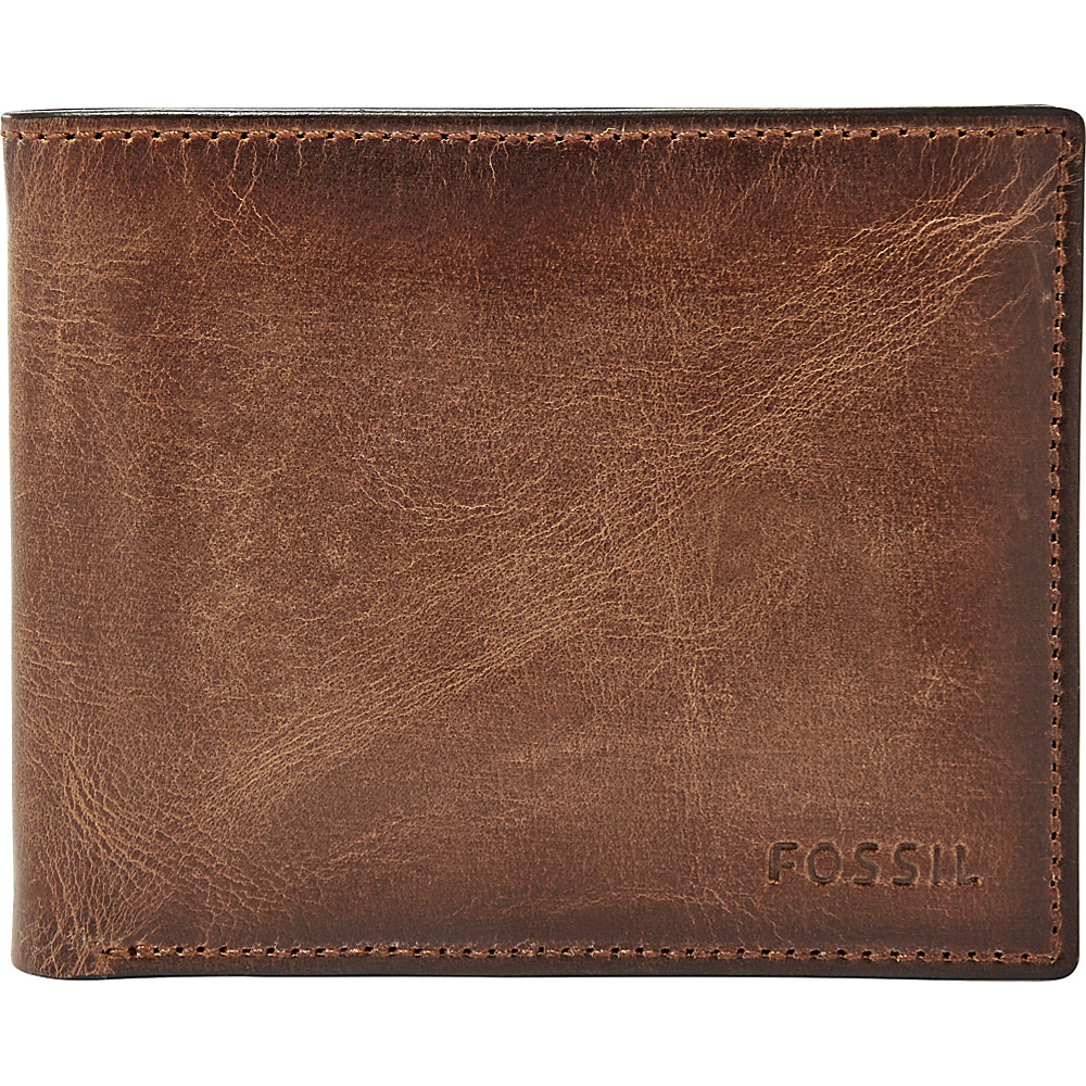 Fossil Derrick RFID Passcase Brown - Fossil Mens Wallets - Work Bags & Briefcases, Men's Wallets