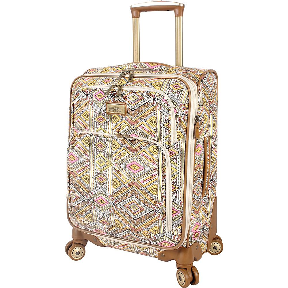 """Nicole Miller NY Luggage Sedona 20"""" Expandable Spinner Yellow - Nicole Miller NY Luggage Softside Carry-On"""