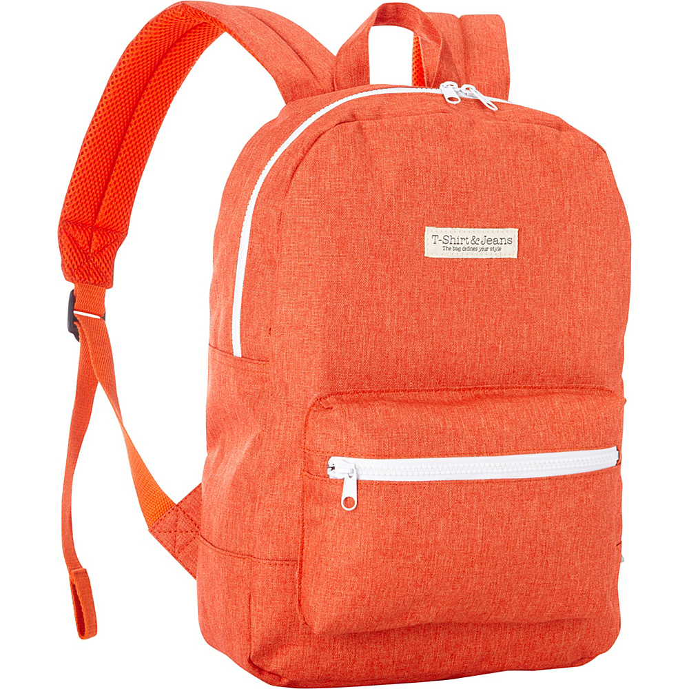 T shirt Jeans Orange School Backpack Orange T shirt Jeans Everyday Backpacks
