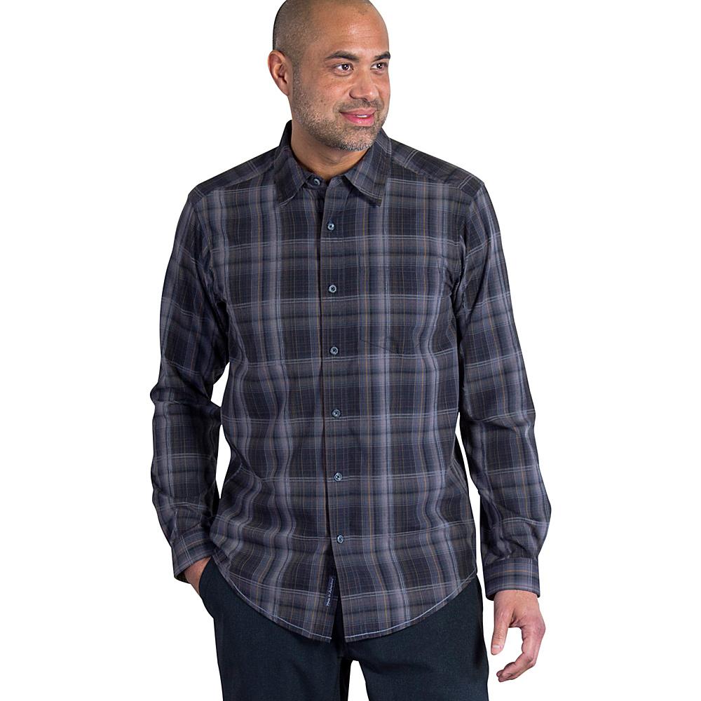 ExOfficio Mens Kelion Plaid Long Sleeve M - Black - ExOfficio Mens Apparel - Apparel & Footwear, Men's Apparel