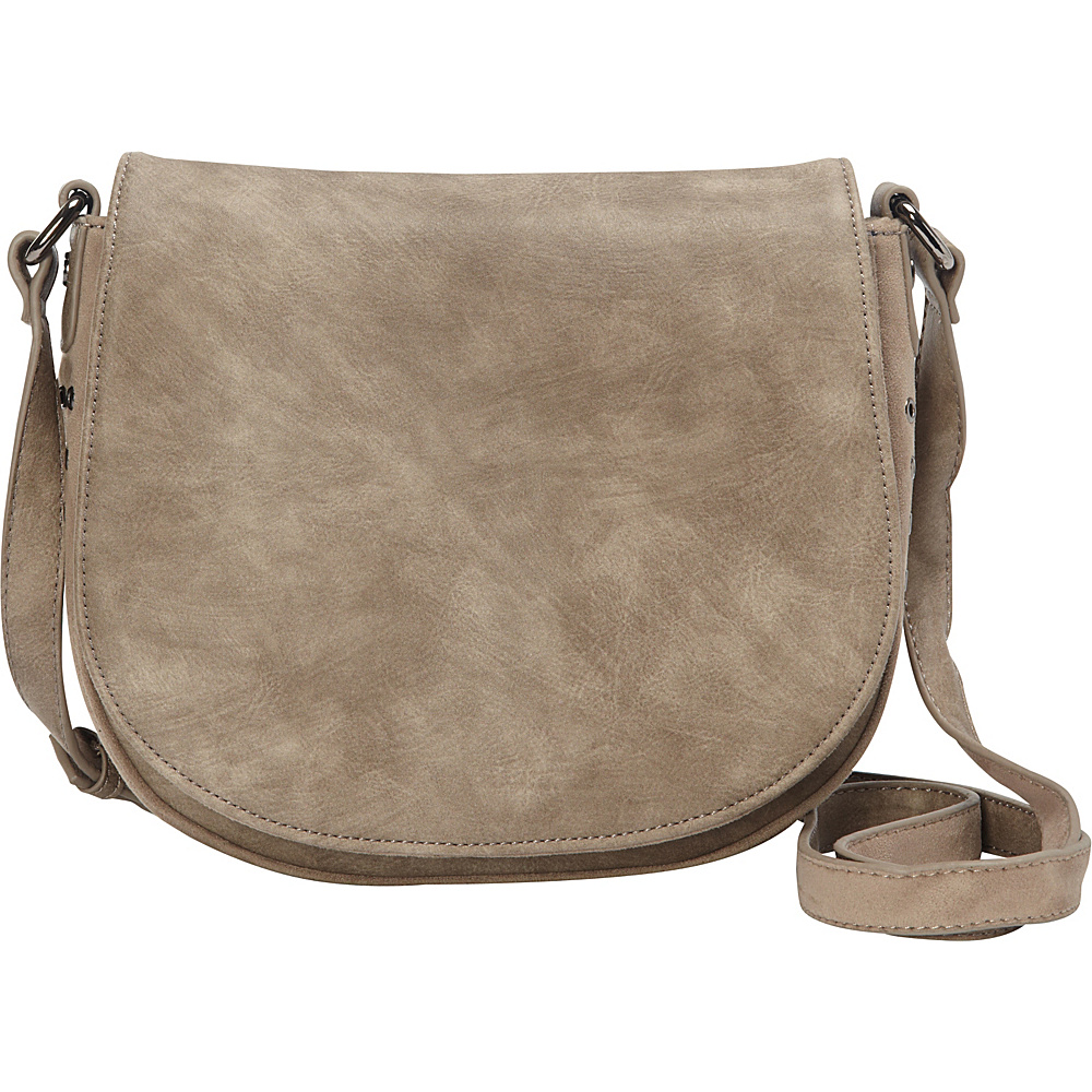 deux lux Patina Saddle Bag Smoke deux lux Manmade Handbags