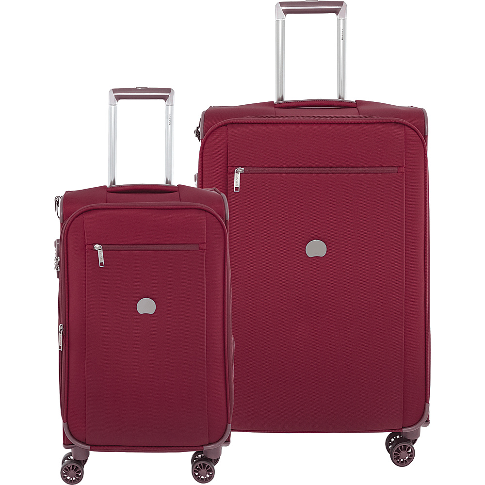 "Delsey Montmartre+ 21"" Carry On and 25"" Luggage Set Bordeaux - Delsey Luggage Sets"