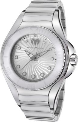 TechnoMarine Watches Womens Blue Manta Ceramic  and Stainless Steel Watch White and silver-tone - TechnoMarine Watches Watches 10468948