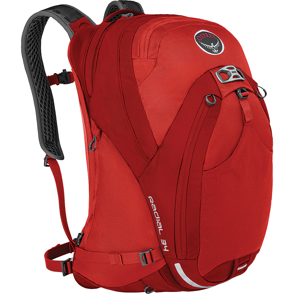 Osprey Radial 34 Cycling Backpack Lava Red (M/L) - Osprey Cycling Bags - Sports, Cycling Bags