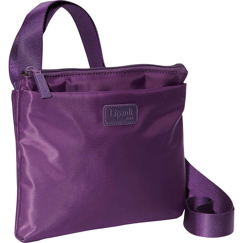 Lipault Paris Large Horizontal Crossbody Bag Purple Lipault Paris Fabric Handbags