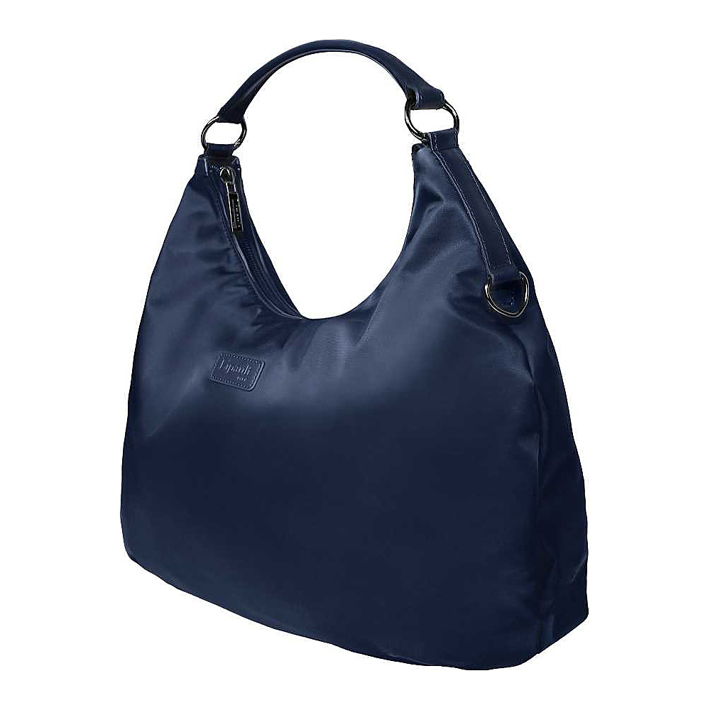 Lipault Paris Hobo Bag L Navy Lipault Paris Fabric Handbags