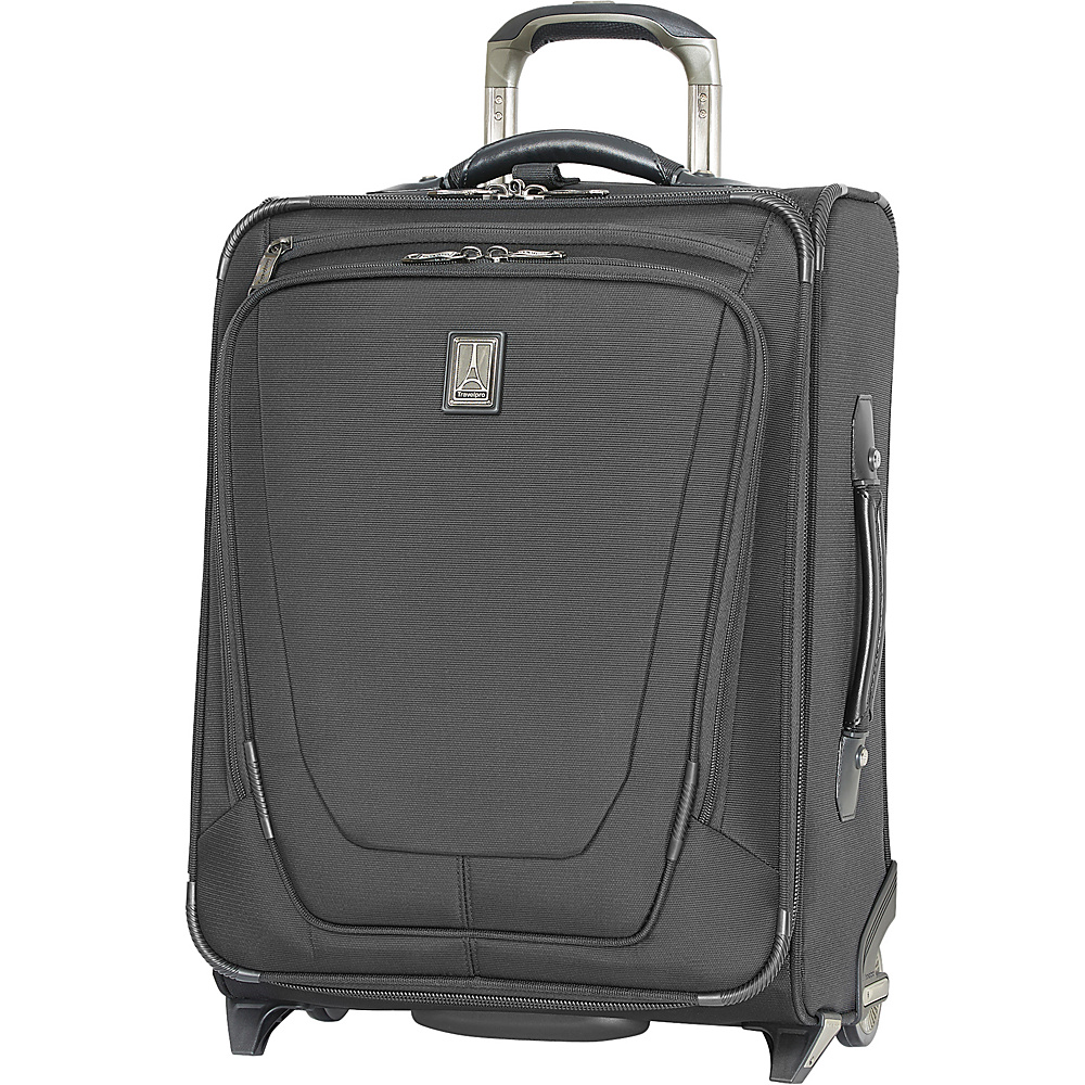 "Travelpro Crew 11 22"" Expandable Upright Suiter Black - Travelpro Softside Carry-On"