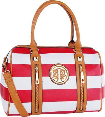 MKF Collection Jen Dual-Zip Overnight Satchel Red - MKF Collection Manmade Handbags