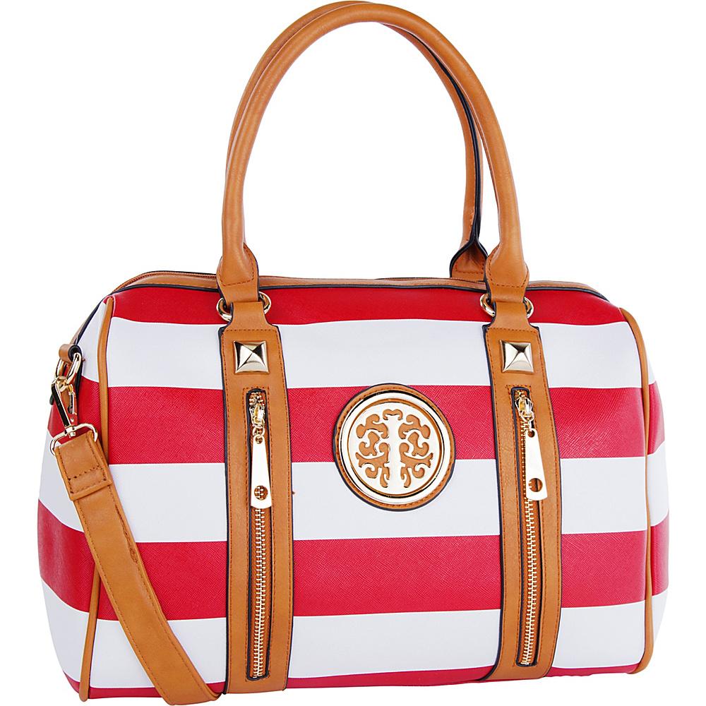 MKF Collection by Mia K. Farrow Jen Dual-Zip Overnight Satchel Red - MKF Collection by Mia K. Farrow Manmade Handbags - Handbags, Manmade Handbags