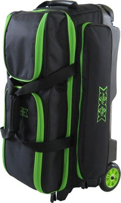 Tenth Frame Tenth Frame Deluxe 3 Ball Roller Bowling Ball Bag Lime - Tenth Frame Bowling Bags