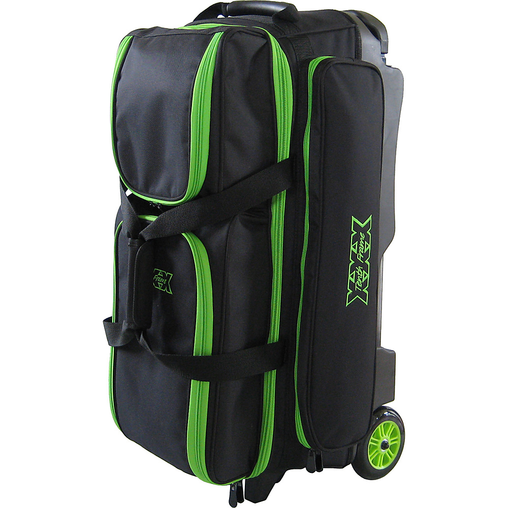 Tenth Frame Deluxe 3 Ball Roller Bowling Ball Bag Lime - Tenth Frame Bowling Bags