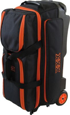Tenth Frame Tenth Frame Deluxe 3 Ball Roller Bowling Ball Bag Orange - Tenth Frame Bowling Bags