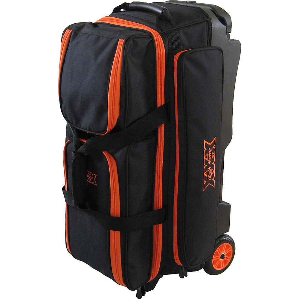 Tenth Frame Deluxe 3 Ball Roller Bowling Ball Bag Orange - Tenth Frame Bowling Bags