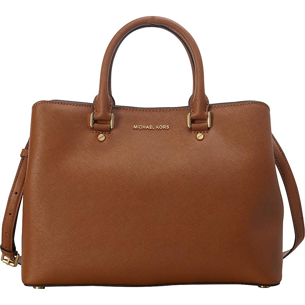 MICHAEL Michael Kors Savannah Large Satchel Luggage - MICHAEL Michael Kors Designer Handbags