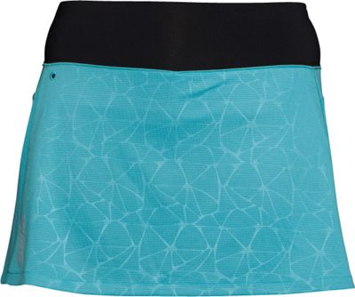Swix Womens Stadion Skort with 4 inch Lycra Compression Short S - Ice Blue - Swix Women's Apparel