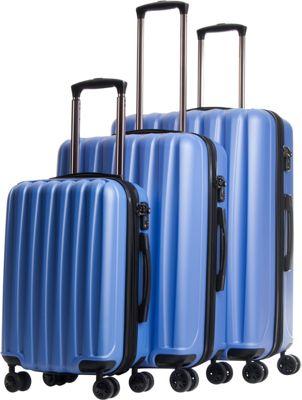CalPak Verdugo Expandable 3-Piece Luggage Set Light Blue - CalPak Luggage Sets