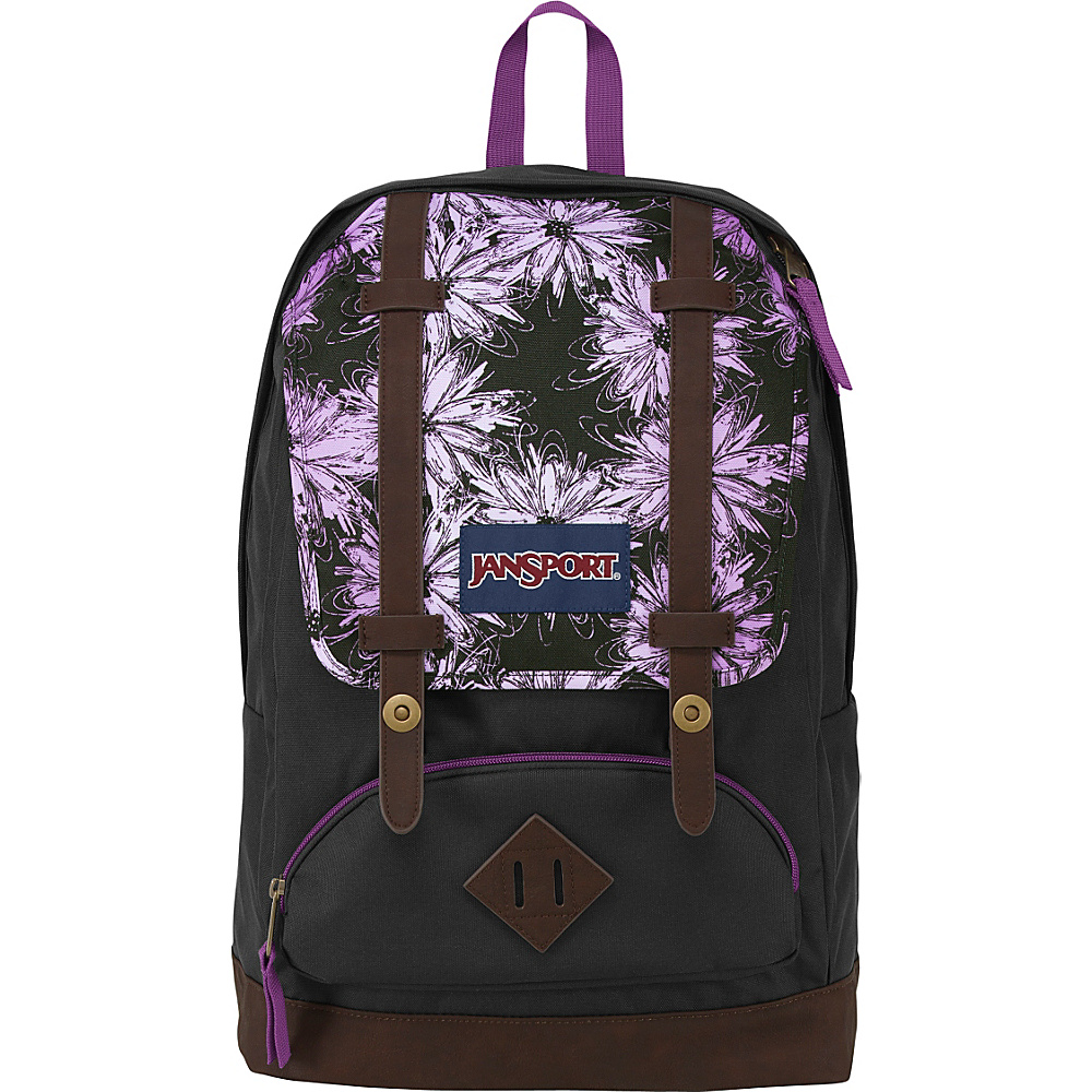 JanSport Cortlandt Backpack- Discontinued Colors Multi Purple Ombre Daisy - JanSport School & Day Hiking Backpacks - Backpacks, School & Day Hiking Backpacks