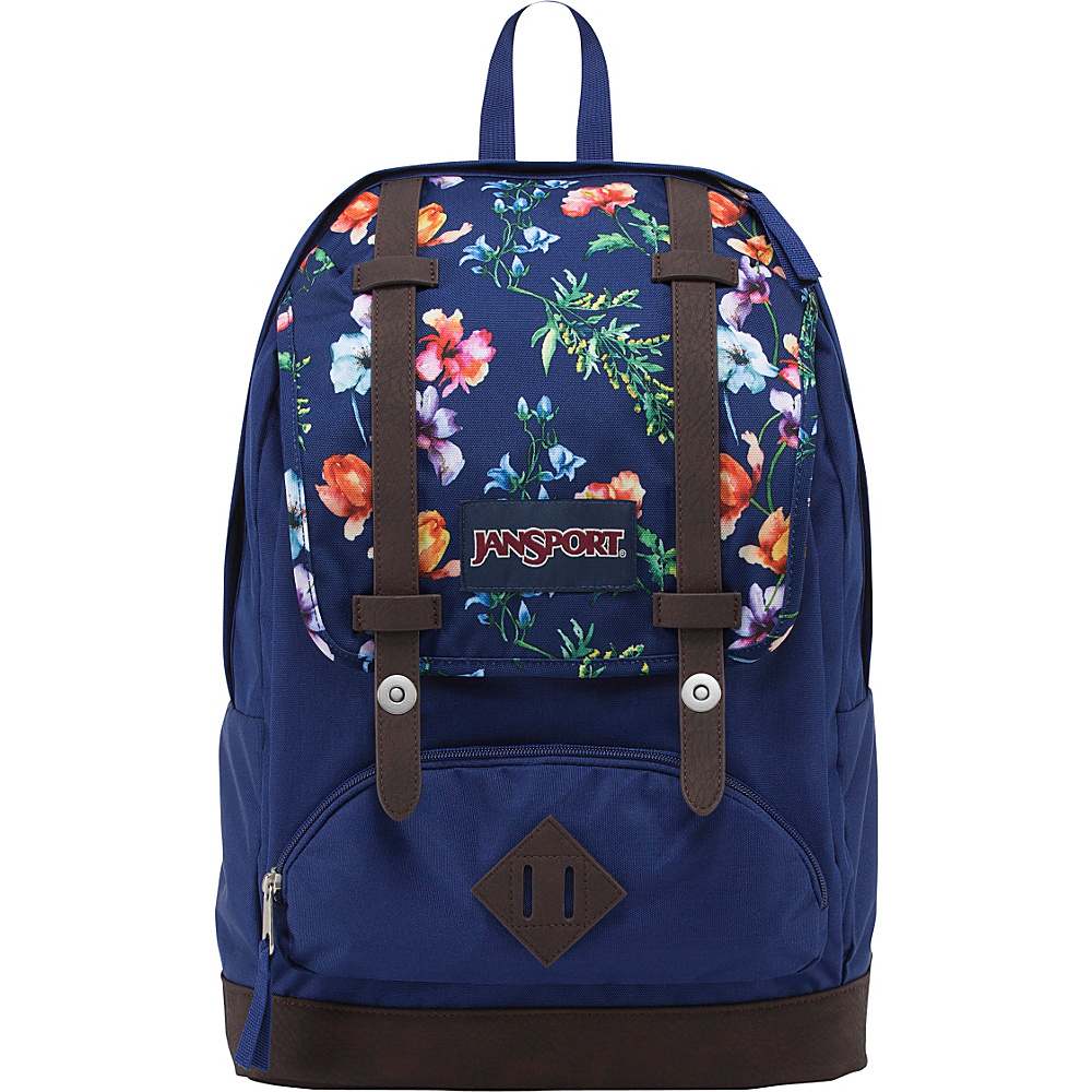 JanSport Cortlandt Backpack- Discontinued Colors Multi Navy Mountain Meadow - JanSport School & Day Hiking Backpacks - Backpacks, School & Day Hiking Backpacks