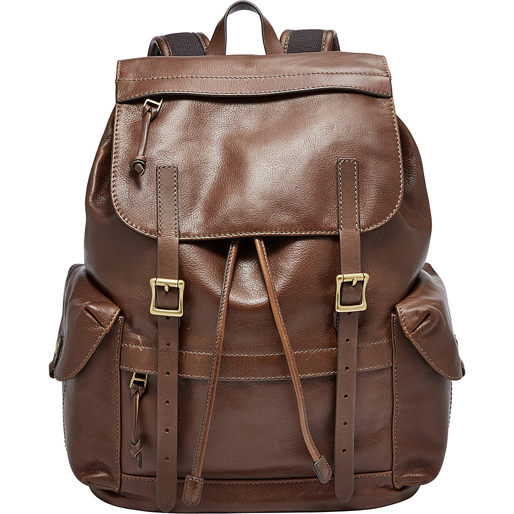 Fossil Defender Rucksack Brown - Fossil Laptop Backpacks - Backpacks, Laptop Backpacks