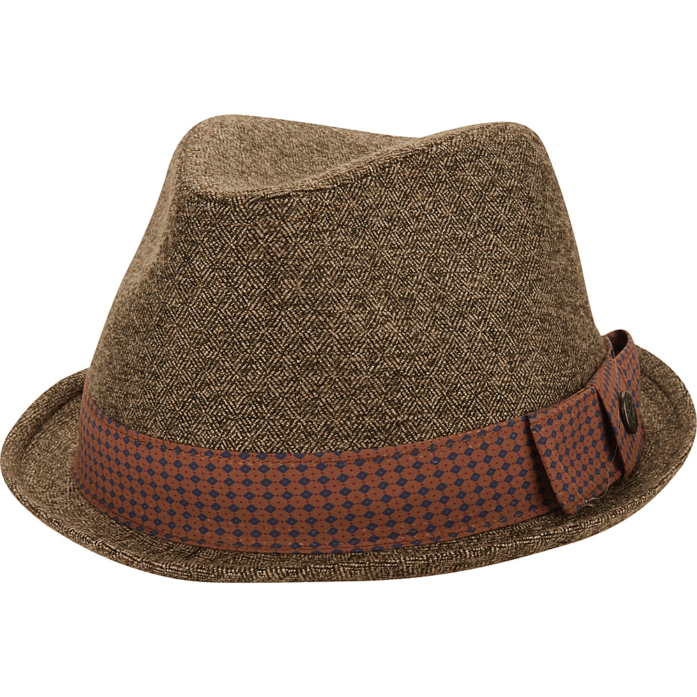 Ben Sherman Textured Trilby Hat Brown - L/XL - Ben Sherman Hats/Gloves/Scarves
