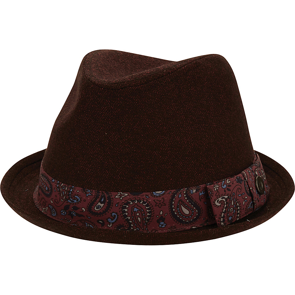 Ben Sherman Textured Trilby Hat Dark Port-S/M - Ben Sherman Hats/Gloves/Scarves