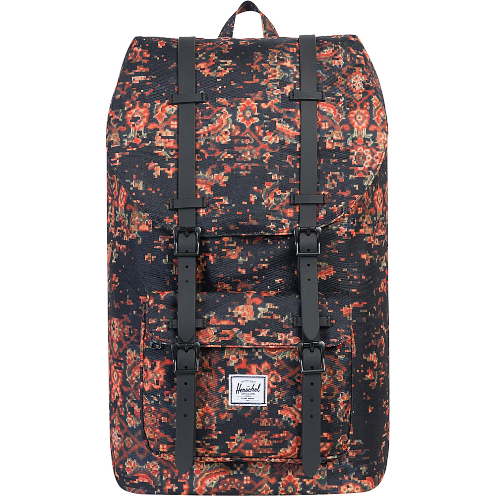 Herschel Supply Co. Little America Laptop Backpack Discontinued Colors Century Black Rubber Herschel Supply Co. Business Laptop Backpacks