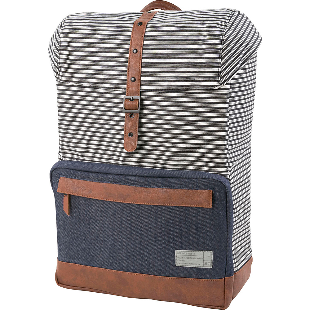 HEX Coast Backpack Stinson Stripe Denim HEX Business Laptop Backpacks