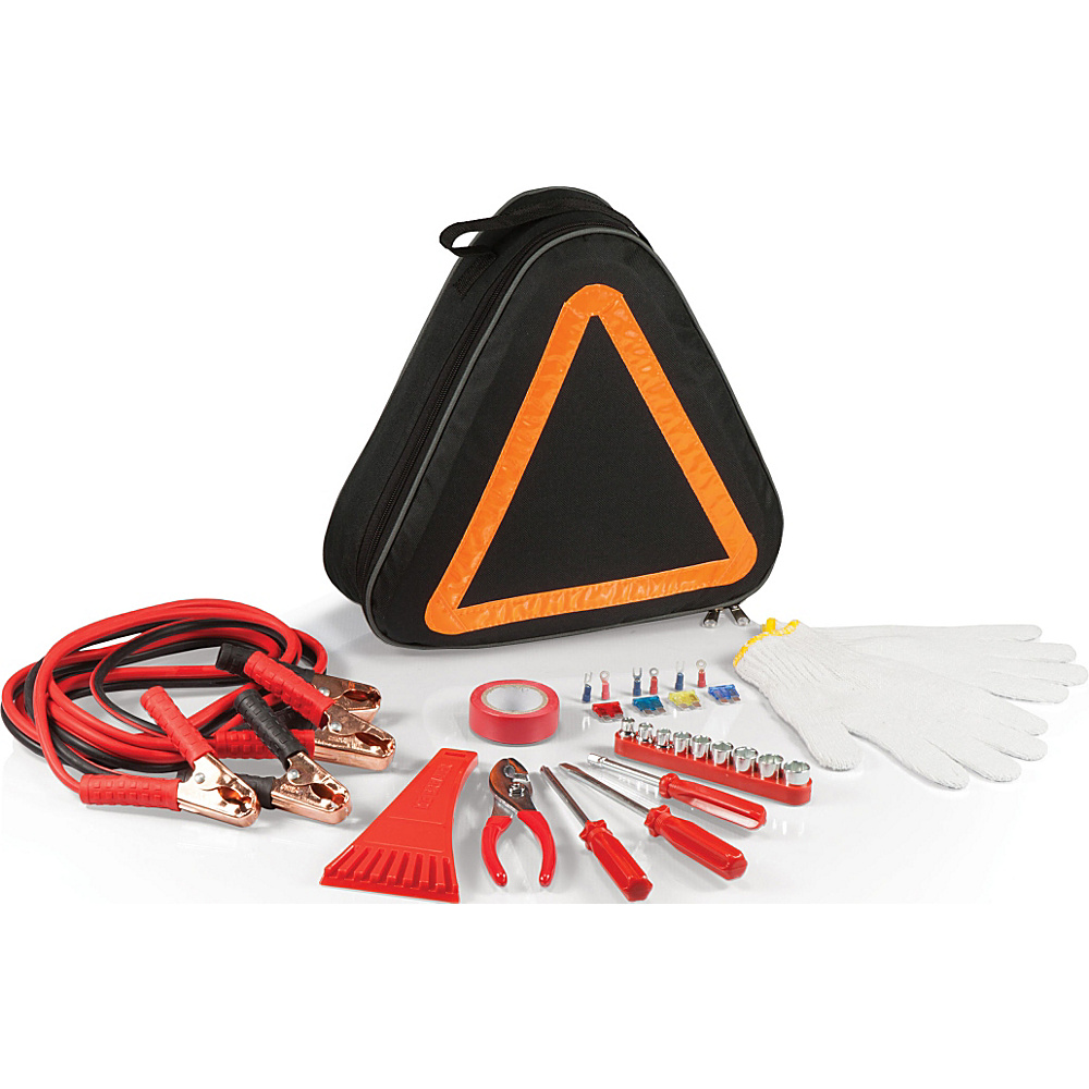 Picnic Time Roadside Emergency Kit Black Orange Picnic Time Trunk and Transport Organization