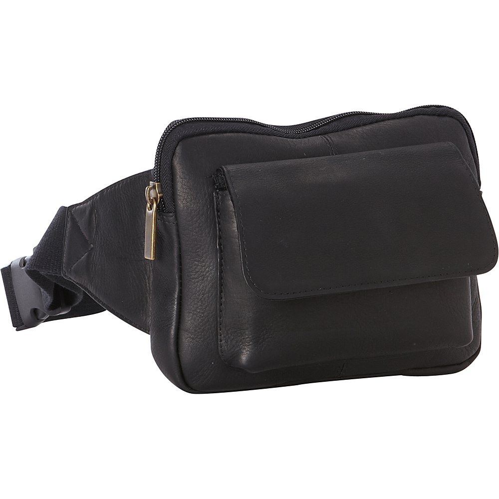 Le Donne Leather Journey Waist Bag Black - Le Donne Leather Waist Packs - Backpacks, Waist Packs