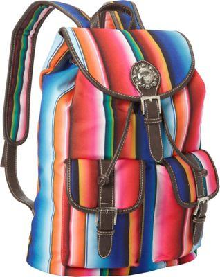 Montana West Serape Backpack Multi 2 - Montana West Fabric Handbags