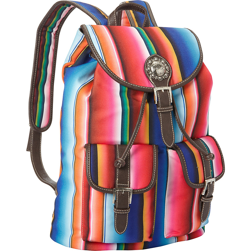Montana West Serape Backpack Multi 2 Montana West Fabric Handbags