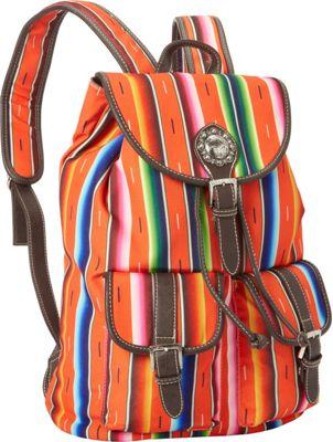 Montana West Serape Backpack Coral - Montana West Fabric Handbags