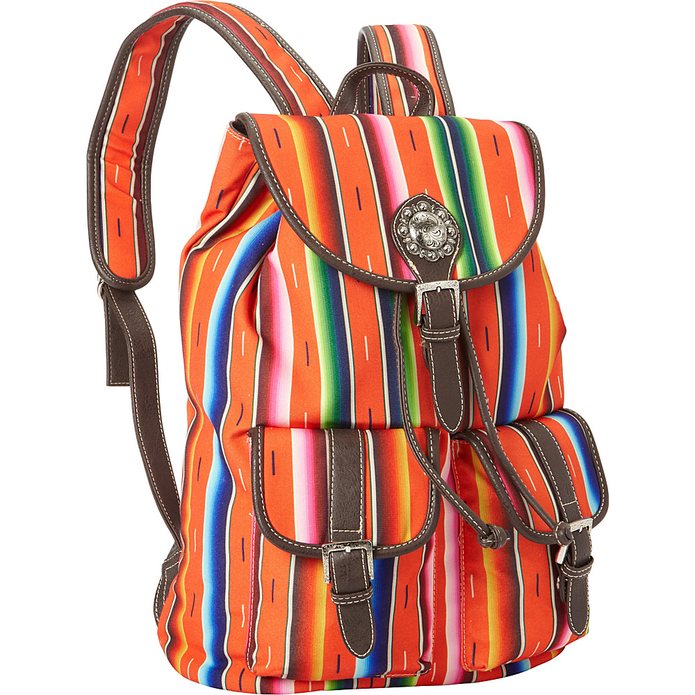 Montana West Serape Backpack Coral Montana West Fabric Handbags