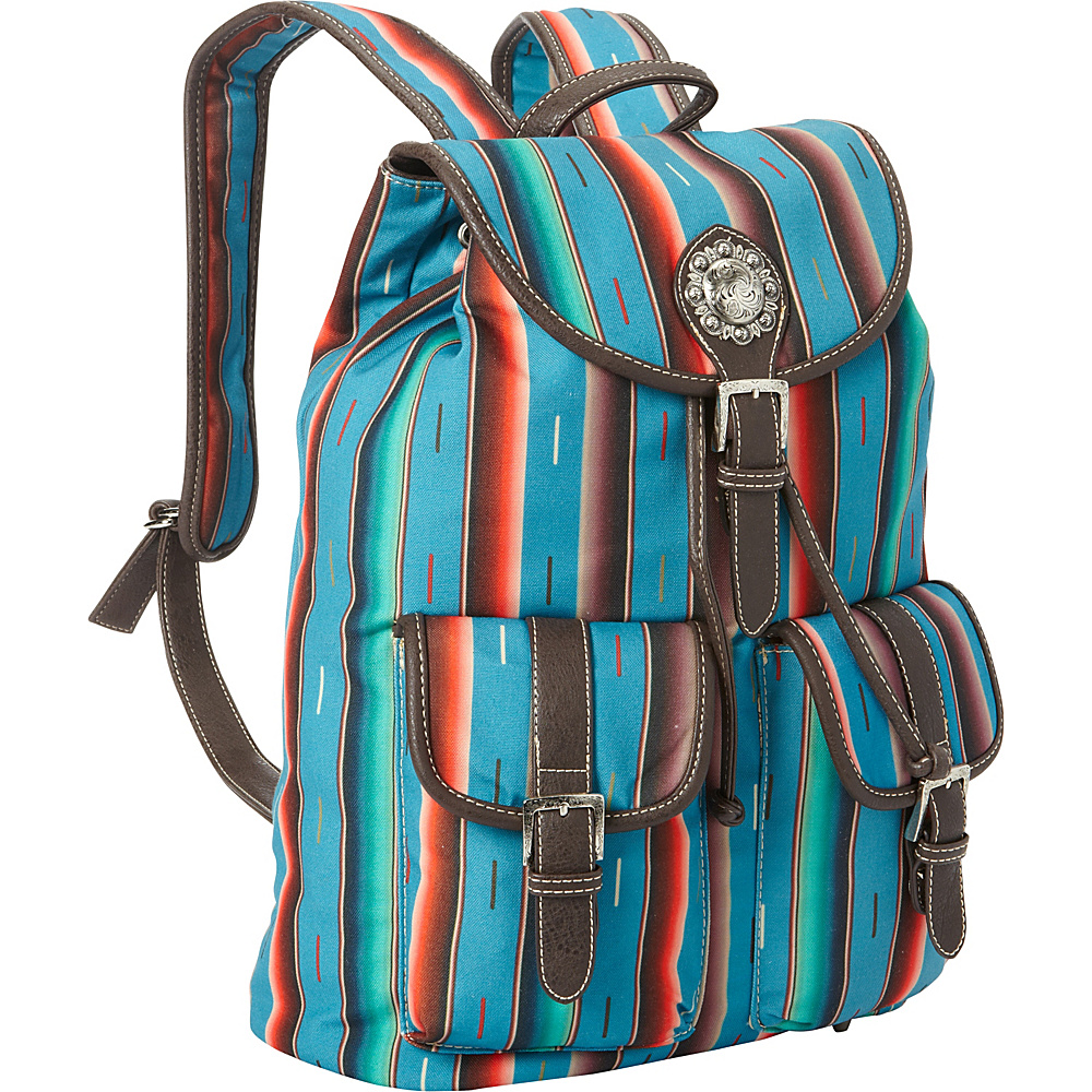Montana West Serape Backpack Turquoise Montana West Fabric Handbags