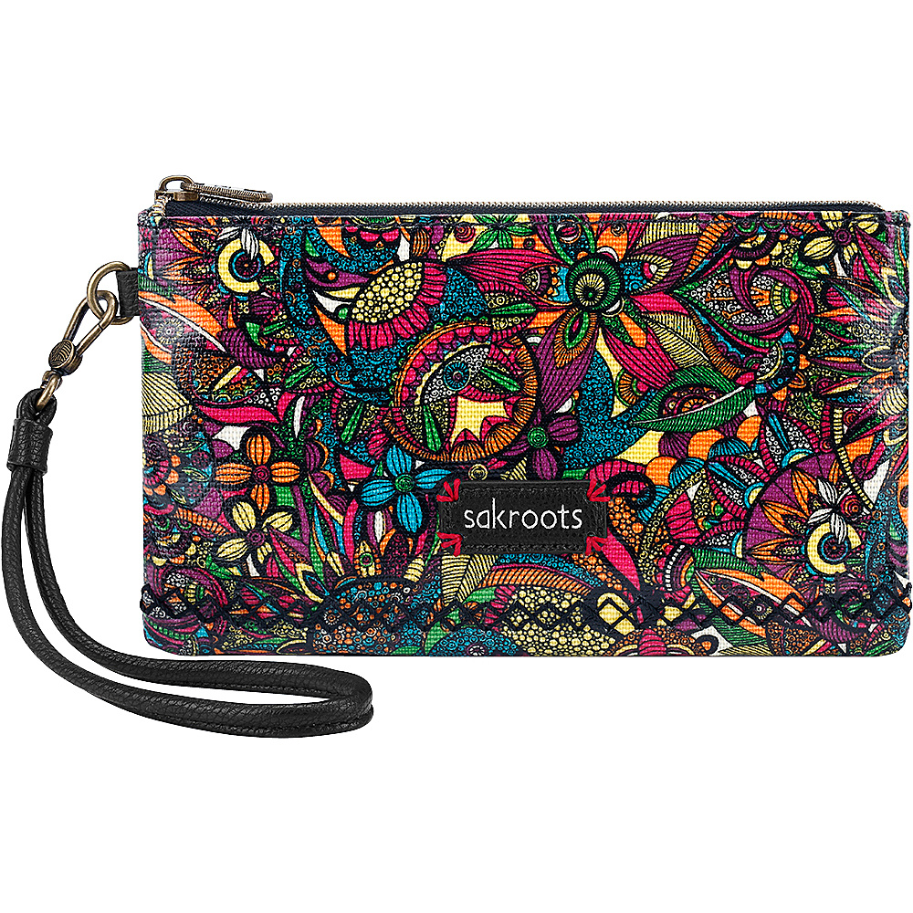 Sakroots Artist Circle Phone Charging Wristlet Rainbow Spirit Desert - Sakroots Fabric Handbags - Handbags, Fabric Handbags