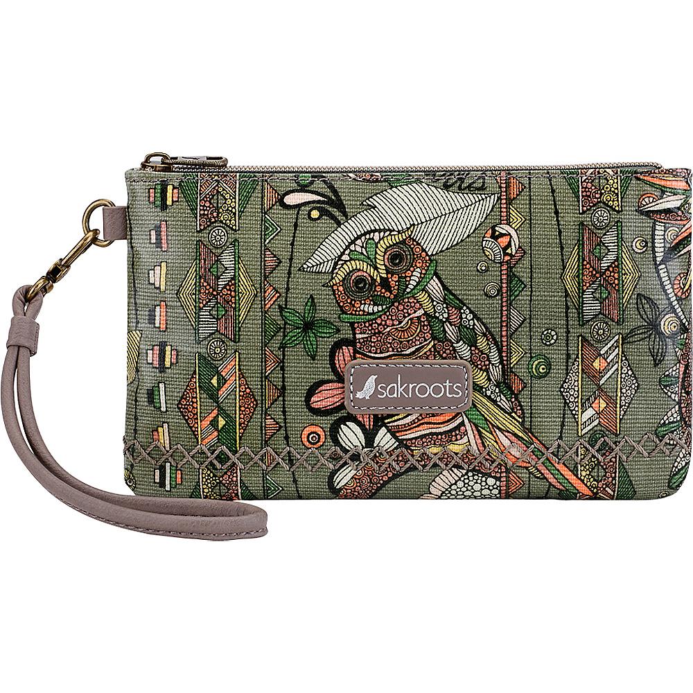 Sakroots Artist Circle Phone Charging Wristlet Olive Spirit Desert - Sakroots Fabric Handbags - Handbags, Fabric Handbags