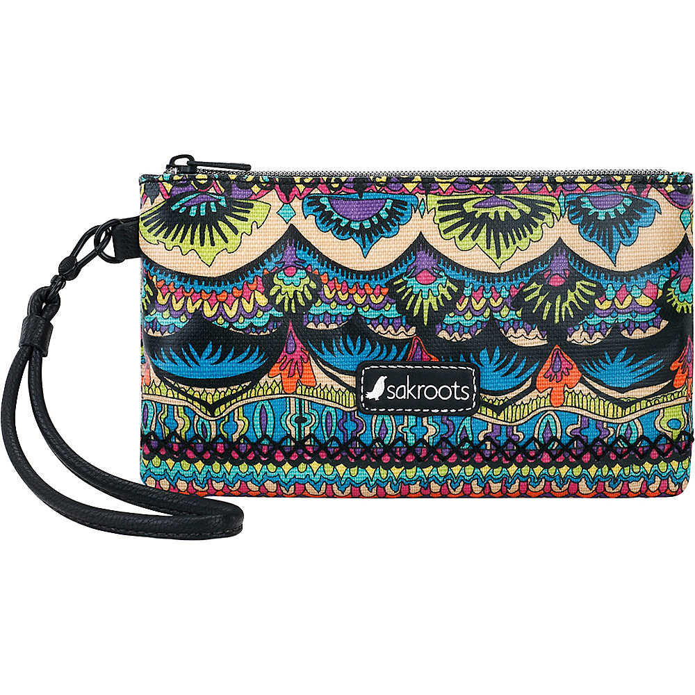 Sakroots Artist Circle Phone Charging Wristlet Radiant One World - Sakroots Fabric Handbags - Handbags, Fabric Handbags
