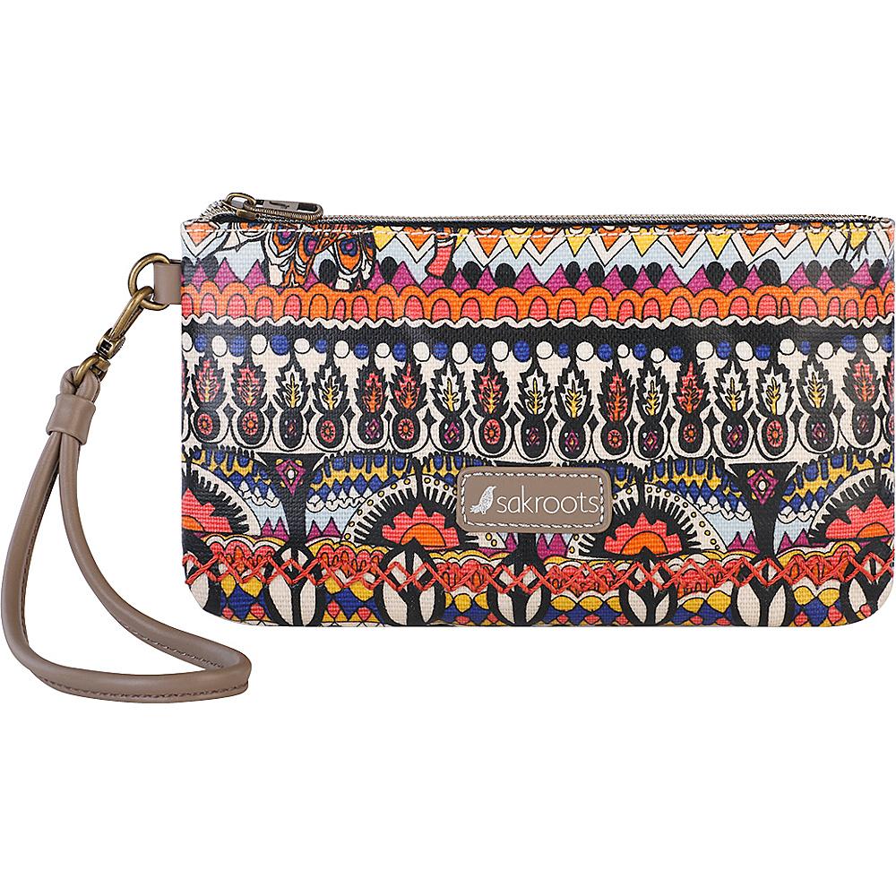 Sakroots Artist Circle Phone Charging Wristlet Camel One World - Sakroots Fabric Handbags - Handbags, Fabric Handbags