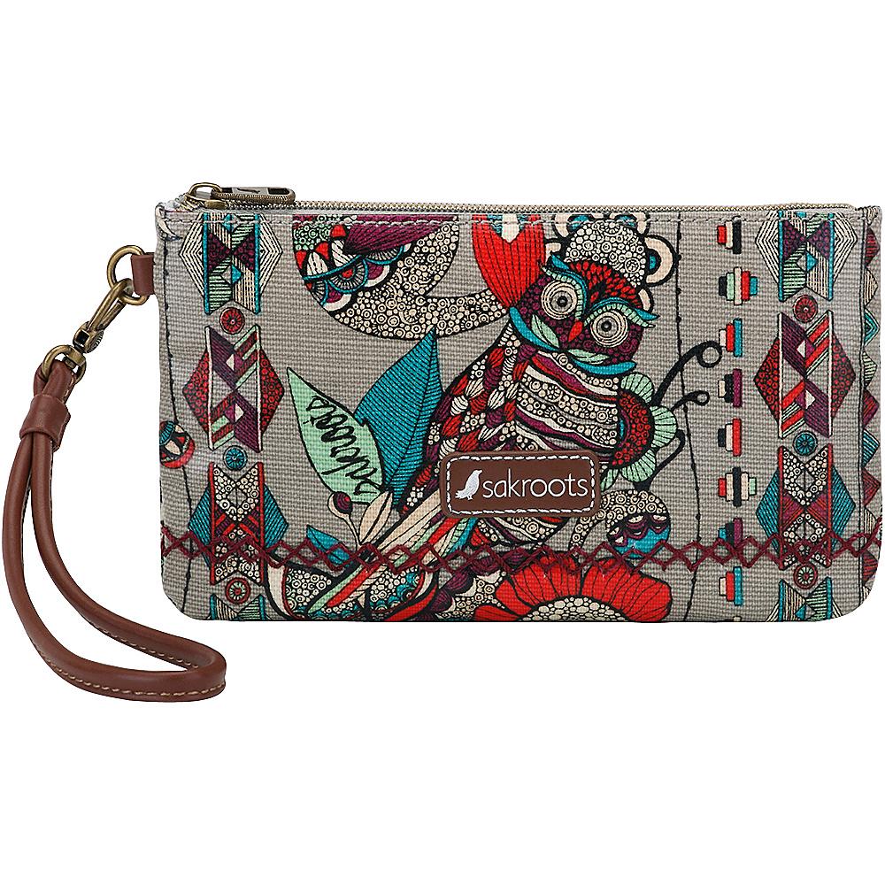 Sakroots Artist Circle Phone Charging Wristlet Charcoal Spirit Desert - Sakroots Fabric Handbags - Handbags, Fabric Handbags